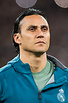 Goalkeeper Keylor Navas of Real Madrid prior to the UEFA Champions League 2017-18 Round of 16 (1st leg) match between Real Madrid vs Paris Saint Germain at Estadio Santiago Bernabeu on February 14 2018 in Madrid, Spain. Photo by Diego Souto / Power Sport Images