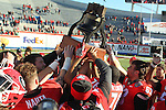 December 30, 2016: Georgia Bulldog players host the liberty bowl trophy after winning the AutoZone Liberty Bowl at Liberty Bowl Memorial Stadium in Memphis, Tennessee. ©Justin Manning/Eclipse Sportswire/Cal Sport Media
