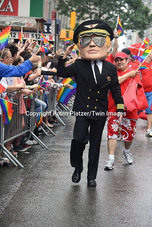 Marcher from Delta Airlines attends the 2015 NYC Pride March on June 28, 2015 on Fifth Avenue in New York City. <br /> <br /> photo by Robin Platzer/Twin Images<br />  <br /> phone number 212-935-0770