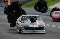 Jun. 19, 2011; Bristol, TN, USA: NHRA pro mod driver Danny Rowe during eliminations at the Thunder Valley Nationals at Bristol Dragway. Mandatory Credit: Mark J. Rebilas-