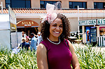 DEL MAR, CA  JULY 16: pink fascinator(Photo by Casey Phillips/ Eclipse Sportswire/ CSM)