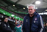 17.02.2018, Football 1. Bundesliga 2017/2018, 23.  match day, VfL Wolfsburg - FC Bayern Muenchen, in Volkswagen Arena Wolfsburg. Trainer Jupp Heynckes (Bayern Muenchen)  *** Local Caption *** © pixathlon<br /> <br /> Contact: +49-40-22 63 02 60 , info@pixathlon.de