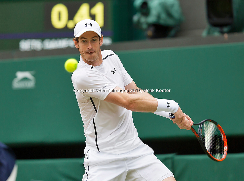 London, England, 4th July, 2016, Tennis, Wimbledon, Andy Murray (GBR)<br /> Photo: Henk Koster/tennisimages.com