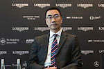 Michael Lee, President of Hong Kong Equestrian Federation, at Longines Hong Kong Masters official press conference at the Happy Valley Racetrack on February 02, 2016 in Hong Kong.  Photo by Victor Fraile / Power Sport Images