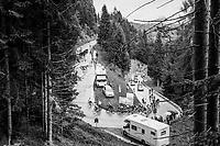 grupetto up the Passo di Sant'Antonio<br /> <br /> stage 15: Tolmezzo – Sappada (176 km)<br /> 101th Giro d'Italia 2018