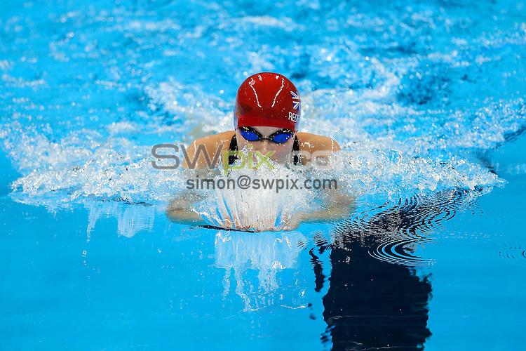 Picture by Rogan Thomson/SWpix.com - 11/09/2016 - 2016 Rio Paralympic Games - Swimming - Olympic Aquatics Centre, Rio de Janeiro, Brazil - Rebecca Redfern of Great Britain competes in the Women's 100m Breaststroke SB13 Heat 2.