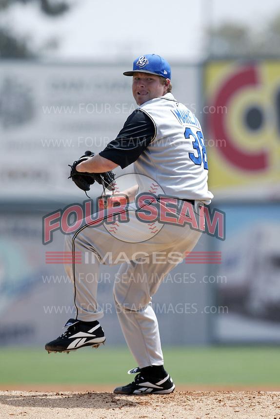 Steve Marek of the Rancho Cucamonga Quakes during a California League baseball game on May 30, 2007 at San Manuel Stadium in San Bernardino, California. (Larry Goren/Four Seam Images)