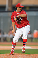 Starting pitcher Reynier Gonzalez #57 of the Johnson City Cardinals in action versus the Bluefield Orioles at Howard Johnson Field August 1, 2009 in Johnson City, Tennessee. (Photo by Brian Westerholt / Four Seam Images)