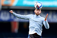 31st October 2020; Kenilworth Road, Luton, Bedfordshire, England; English Football League Championship Football, Luton Town versus Brentford; Tom Lockyer of Luton Town during the warm up