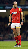 Jamie Roberts of Wales during the Wales v France, 2016 RBS 6 Nations Championship, at the Principality Stadium, Cardiff, Wales, UK