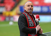 New Charlton Athletic FC Owner, Thomas Sandgaard is interviewed by the side of the pitch ahead of kick-off during Charlton Athletic vs AFC Wimbledon, Sky Bet EFL League 1 Football at The Valley on 12th December 2020