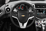 Car pictures of steering wheel view of a 2017 Chevrolet Sonic LT 4 Door Sedan Steering Wheel
