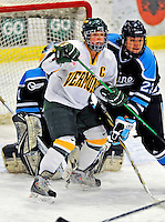 21 February 2009: University of Vermont Catamounts' forward Brittany Nelson, a Junior from Shelburne, VT, in action against the University of Maine Black Bears at Gutterson Fieldhouse in Burlington, Vermont. The Catamounts shut out the Black Bears 1-0. Mandatory Photo Credit: Ed Wolfstein Photo