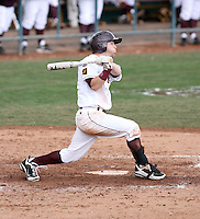 Matt Newman #11 of the Arizona State Sun Devils bats against the University of New Mexico Lobos in game three of the 2011 season opening series on February 20, 2011 at Packard Stadium, Arizona State University, in Tempe, Arizona..Photo by:  Bill Mitchell/Four Seam Images.