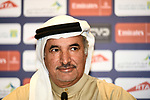 H.E. Saeed Hareb at the top riders press conference for the Dubai Tour 2018 the Dubai Tour's 5th edition held at Dubai Frame in Zabeel Park, Dubai, United Arab Emirates. 5th February 2018.<br /> Picture: LaPresse/Massimo Paolone | Cyclefile<br /> <br /> <br /> All photos usage must carry mandatory copyright credit (© Cyclefile | LaPresse/Massimo Paolone)