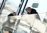 21.11.2020, PreZero-Arena, Sinsheim, GER, 1.FBL, TSG 1899 Hoffenheim vs VfB Stuttgart , <br />DFL  regulations prohibit any use of photographs as image sequences and/or quasi-video.<br />im Bild<br />Geschäftsführer Dr. Peter Görlich (Hoffenheim), Leiter Scouting Bastian Huber (Hoffenheim)<br /> <br /> Foto © nordphoto / Bratic