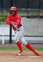 March 25, 2010:  Outfielder Anthony Gose of the Philadelphia Phillies organization during a Spring Training game at the Carpenter Complex in Clearwater, FL.  Photo By Mike Janes/Four Seam Images