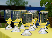 The Queens Cup undercard trophies, Mineral Springs, NC.