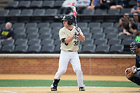 Ben Breazeale (39) of the Wake Forest Demon Deacons at bat against the Georgia Tech Yellow Jackets at David F. Couch Ballpark on March 26, 2017 in  Winston-Salem, North Carolina.  The Demon Deacons defeated the Yellow Jackets 8-4.  (Brian Westerholt/Four Seam Images)