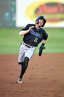 Missoula Osprey Cam Coursey (11) runs to third base during a Pioneer League game against the Idaho Falls Chukars at Melaleuca Field on August 20, 2019 in Idaho Falls, Idaho. Idaho Falls defeated Missoula 6-3. (Zachary Lucy/Four Seam Images)