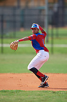 Jeral Perez (1) during the Dominican Prospect League Elite Florida Event at Pompano Beach Baseball Park on October 14, 2019 in Pompano beach, Florida.  (Mike Janes/Four Seam Images)