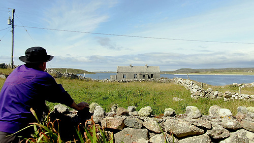 The ruin of the old schoolhouse on Turbot Island