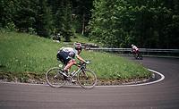 Lars Bak (DEN/Lotto-Soudal) descending the Passo della Mauria<br /> <br /> stage 15: Tolmezzo – Sappada (176 km)<br /> 101th Giro d'Italia 2018