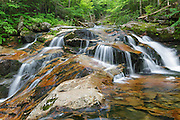 One of the many cascades on Cold Brook in Randolph, New Hampshire during the summer months. This areas is within the White Mountain National Forest.