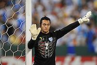 Guatemalan goalkeeper Ricardo Jerez (1)      The Guatemalan National Team defeated  El Salvador National Team 2-0 in a friendly international at RFK Stadium, Saturday September 7, 2010.