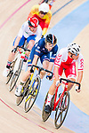Szymon Sajnok of Poland and Benjamin Thomas of France compete on the Men's Omnium Scratch during the 2017 UCI Track Cycling World Championships on 15 April 2017, in Hong Kong Velodrome, Hong Kong, China. Photo by Marcio Rodrigo Machado / Power Sport Images