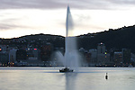 Oriental Bay fountain. Wellington scenes. Photo: Marc Weakley