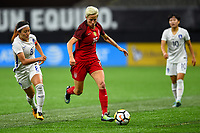 New Orleans, LA - Thursday October 19, 2017: Cho Sohyun, Megan Rapinoe during an International friendly match between the Women's National teams of the United States (USA) and South Korea (KOR) at Mercedes Benz Superdome.