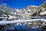 Isabelle Lake and the Continental Divide in spring.<br />