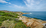 View along Henry Head walk in Kamay Botany Bay National Park, La Perouse, Sydney NSW Australia