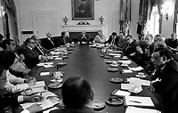 President Ford meets with his Cabinet ,25 June 1975.<br /> <br /> PHOTO : David Hume Kennerly