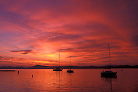 sunrise, Vermont, VT, South Hero, [Sunrise, sunset] over Appletree Marina on Lake Champlain.