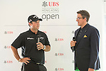 Patrick Reed of USA visits the UBS Pavilion on the sidelines of the 58th UBS Hong Kong Golf Open as part of the European Tour on 10 December 2016, at the Hong Kong Golf Club, Fanling, Hong Kong, China. Photo by Marcio Rodrigo Machado / Power Sport Images