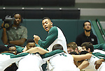 First half basketball action as Tulane downs Southeastern Louisiana, 71-61, at Devlin Fieldhouse.