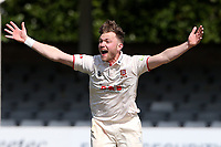 Sam Cook of Essex appeals for a wicket during Essex CCC vs Durham CCC, LV Insurance County Championship Group 1 Cricket at The Cloudfm County Ground on 16th April 2021