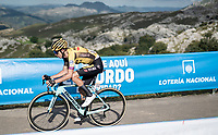 George Bennett (AUS/Jumbo Visma) at the finish after climbing the extremely brutal Alto de los Machucos <br /> <br /> Stage 13: Bilbao to Los Machucos / Monumento Vaca Pasiega (166km)<br /> La Vuelta 2019<br /> <br /> ©kramon