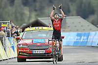 5th June 2021; La Plagne, Tarentaise, France;  PADUN Mark (UKR) of BAHRAIN VICTORIOUS during stage 7 of the 73th edition of the 2021 Criterium du Dauphine Libere cycling race, a stage of 171km with start in Saint-Martin-Le-Vinoux and finish in La Plagne