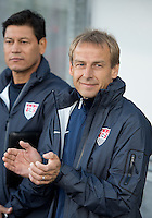 03 June 2012: US Men's National Soccer Teamhead coach Jurgen Klinsmann during the opening ceremonies in an international friendly  match between the United States Men's National Soccer Team and the Canadian Men's National Soccer Team at BMO Field in Toronto..The game ended in 0-0 draw..