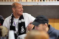 Pictured: Tuesday 29 November 2016<br /> Re: Soup kitchen for homeless people organised by Swansea City FC and Woolwich at the Liberty Stadium, Wales, UK