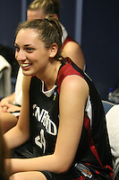 6 April 2008: Stanford Cardinal Ashley Cimino during Stanford's 82-73 win against the Connecticut Huskies in the 2008 NCAA Division I Women's Basketball Final Four semifinal game at the St. Pete Times Forum Arena in Tampa Bay, FL.