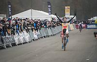 victory for Sanne Cant (BEL/Enertherm-Beobank)<br /> <br /> 2016 CX UCI World Cup Zeven (DEU)