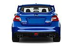 Straight rear view of a 2017 Subaru WRX STI Sport Premium 4 Door Sedan stock images