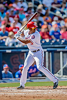 7 March 2019: Washington Nationals outfielder Michael Taylor at bat during a Spring Training Game against the New York Mets at the Ballpark of the Palm Beaches in West Palm Beach, Florida. The Nationals defeated the visiting Mets 6-4 in Grapefruit League, pre-season play. Mandatory Credit: Ed Wolfstein Photo *** RAW (NEF) Image File Available ***