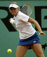 20030602, Paris, Tennis, Roland Garros, Michaela Krajicek in het juniortournooi tegen Yakimova