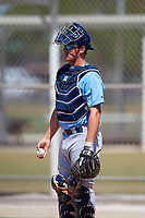 Tampa Bay Rays catcher Chris Betts (26) before a Minor League Spring Training game against the Minnesota Twins on March 17, 2018 at CenturyLink Sports Complex in Fort Myers, Florida.  (Mike Janes/Four Seam Images)