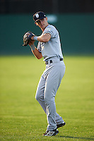Staten Island Yankees right fielder Ben Ruta (63) during warmups before a game against the Batavia Muckdogs on August 27, 2016 at Dwyer Stadium in Batavia, New York.  Staten Island defeated Batavia 13-10 in eleven innings.  (Mike Janes/Four Seam Images)
